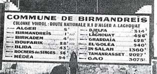tableau de distances