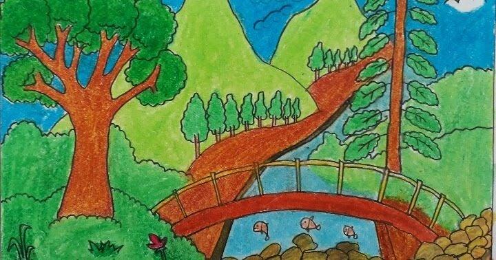 Gambar Pemandangan Gunung Anak Sd Kelas 6
