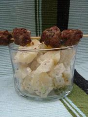 kartoffel salat con mini polpettine