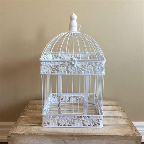 Large White Bird Cage   Card Box   Wedding Decor Rental
