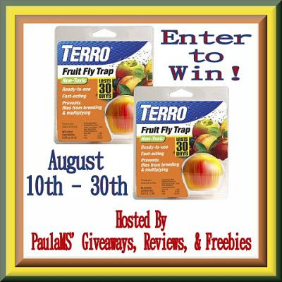 Enter to Win Two #Terro Fruit Fly Apple Traps by 8/30 #Giveaway