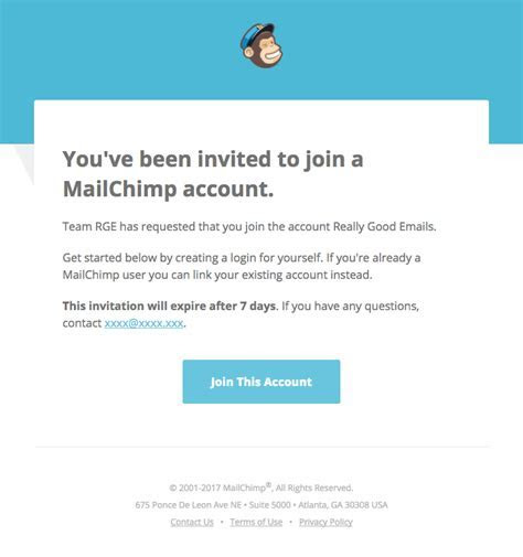 @mailchimp sent this email with the subject line