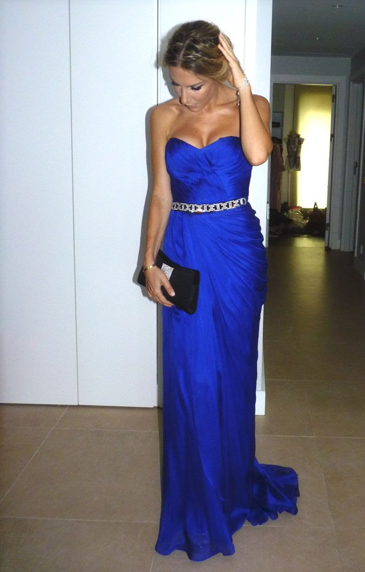 Cobalt blue bridesmaid dress - My wedding ideas
