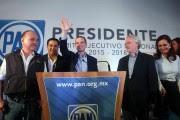 Ricardo Anaya celebra la presidencia del PAN. Foto: Benjamin Flores