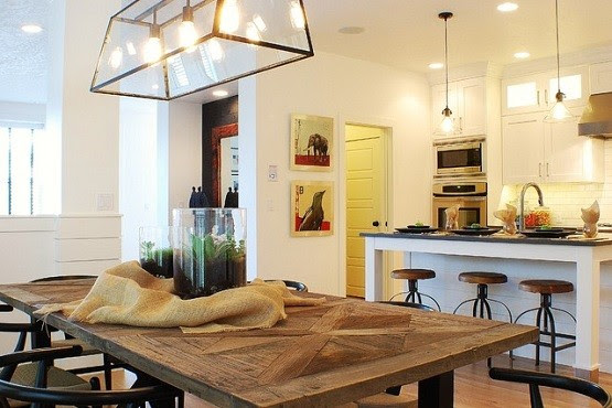 Farmhouse Dining Room Lighting Ideas And Designs  Home Interiors