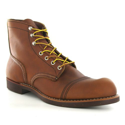 Red Wing Iron Ranger 08112 Brown Leather Mens Boots Size 9 UK