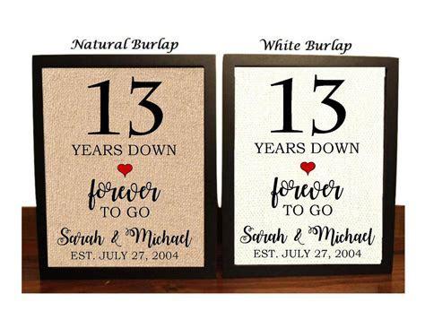 13th Anniversary Gift 13th Wedding Anniversary Gift Gift