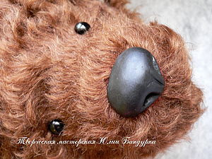 Лепим нос для мишки Тедди.