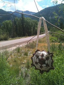 Cinnamon Pass Snowflake Purse below Cinnamon Pass