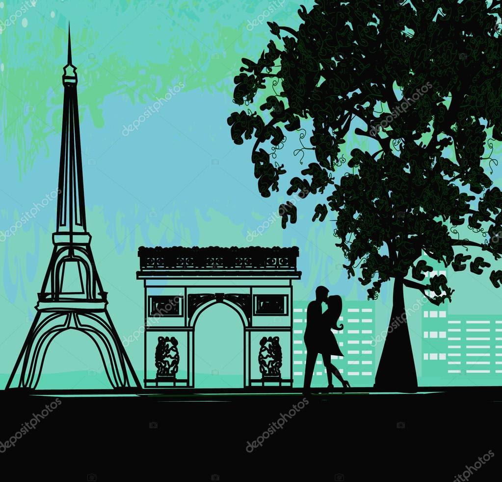 Resultado de imagen de foto de paris con pareja romantica