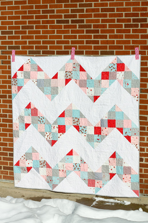 Patchwork Chevron Quilt Tutorial - In Color Order