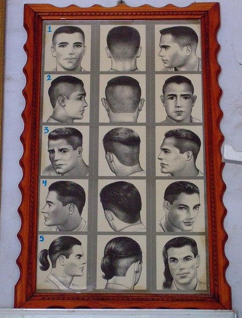 Barber Hairstyle Chart