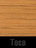 Muebles de madera en fibras de teca