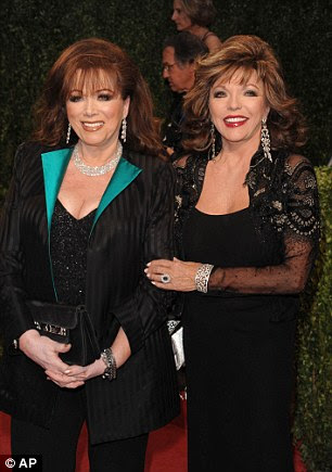 Joan with her beloved sister Jackie (in 2009) before her death in September last year