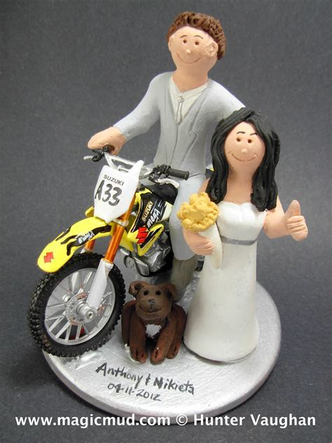 Dirt Bike Wedding Cake Toppers