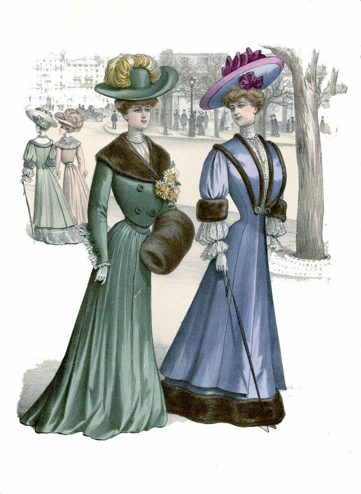 2 victorian edwardian ladies womens dress design fashion