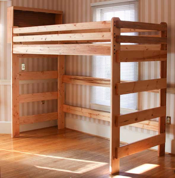 woodworking plans for loft beds