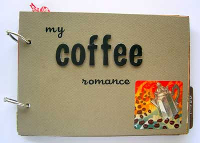 coffee scrapbook mini album