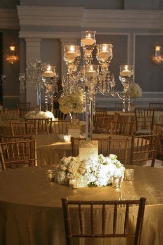 Some of the centerpieces will be crystal candelabras