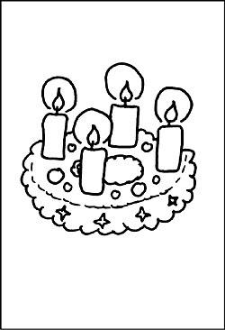 Ausmalbilder Adventskranz Calendar June