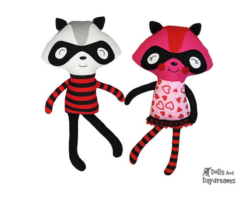 "Raccoon Sewing Pattern Meet my ""Love Bandits""!"