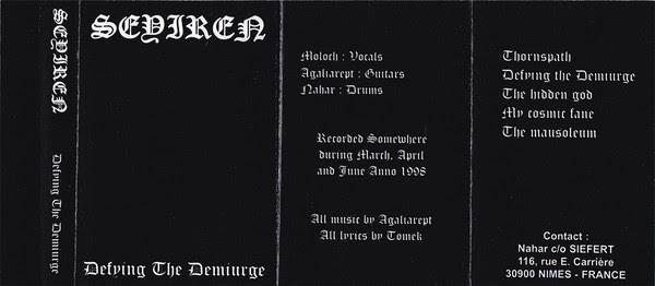 Seyiren - Defying the Demiurge