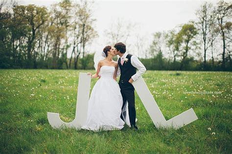 Oversized Letters Wedding Decor