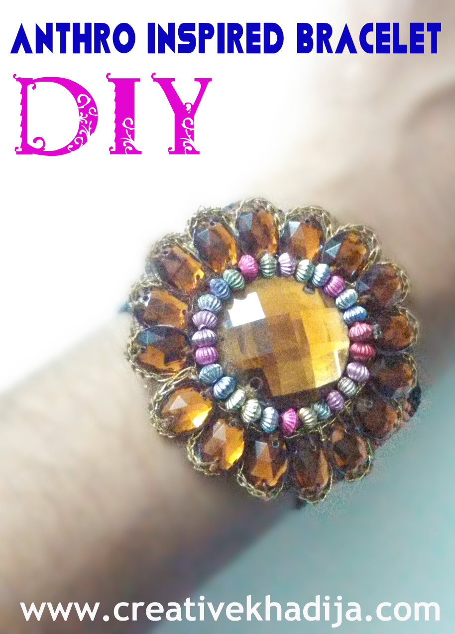 Anthro inspired bracelet diy