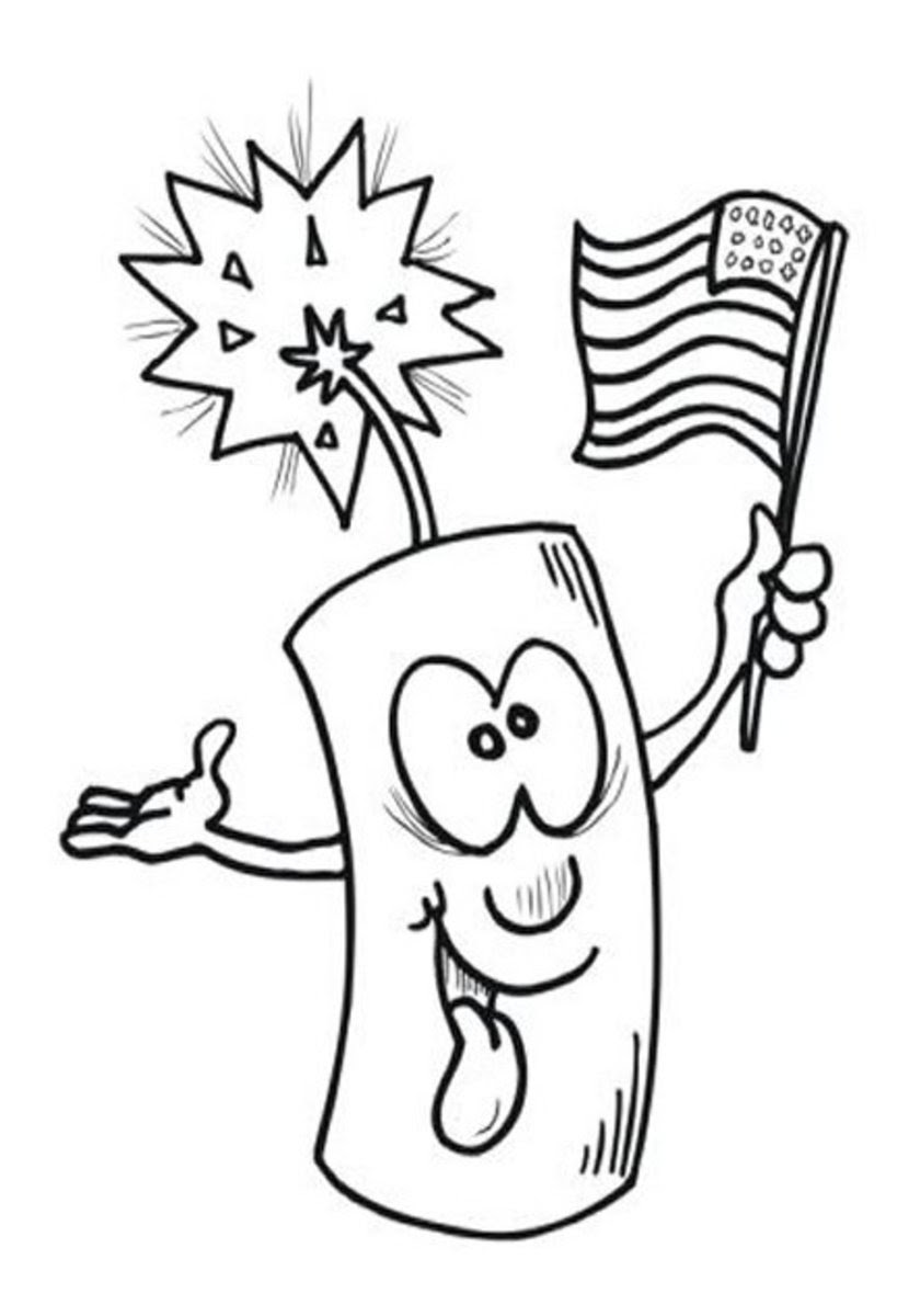 4thofjuly fireworks kids coloring pages and free colouring pictures to print
