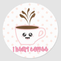 I heart coffee design Sticker sticker