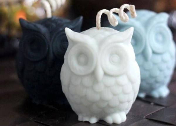 Desktop Decorative Owl Shaped Silicone Candle Molds 8 5 6 5