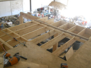 More Barn Loft Floor Joists on Front Section