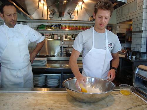 Zach making pasta dough