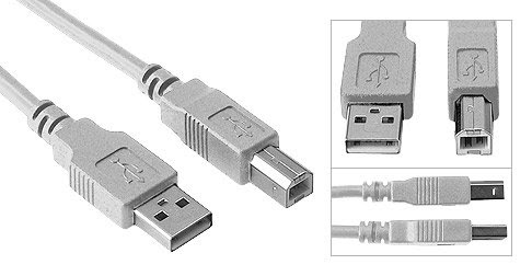 Copartner Usb A/m To Usb B/m Cable E119932 Awm 2725 80c 30v Vw-1 28awg Ll84201 Csa Type Awm I/iia 80