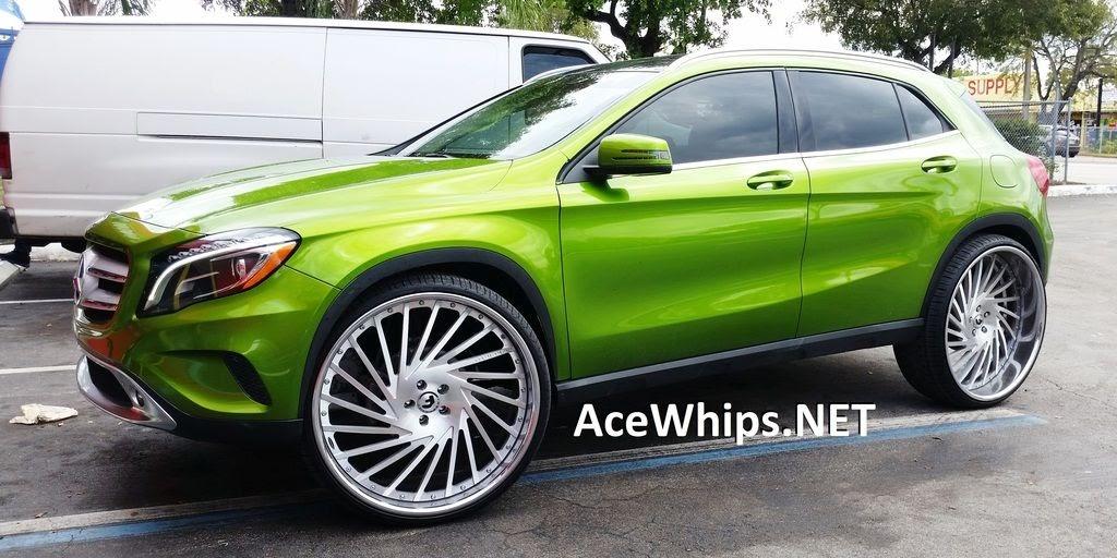 "Ace-1: 2015 Mercedes-Benz GLA-250 on 26"" Ventoso Forgiatos"
