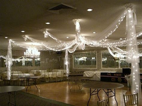 Dance Floor Tulle Draping with Lights   Wedding   Wedding
