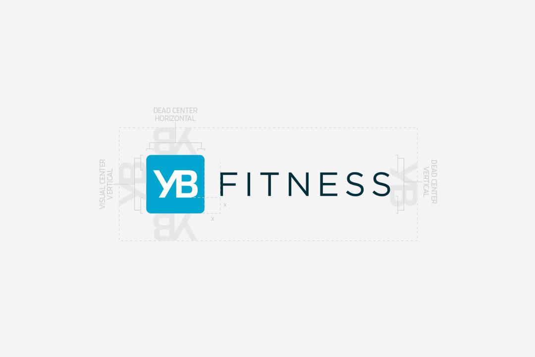 yb fitness logo construction