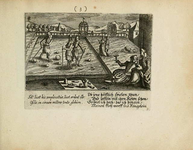 illustration of early form of croquet