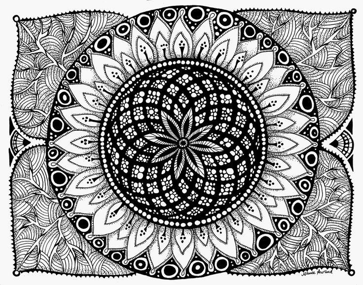 Zentangle Sunflower   Zentangle   Pinterest