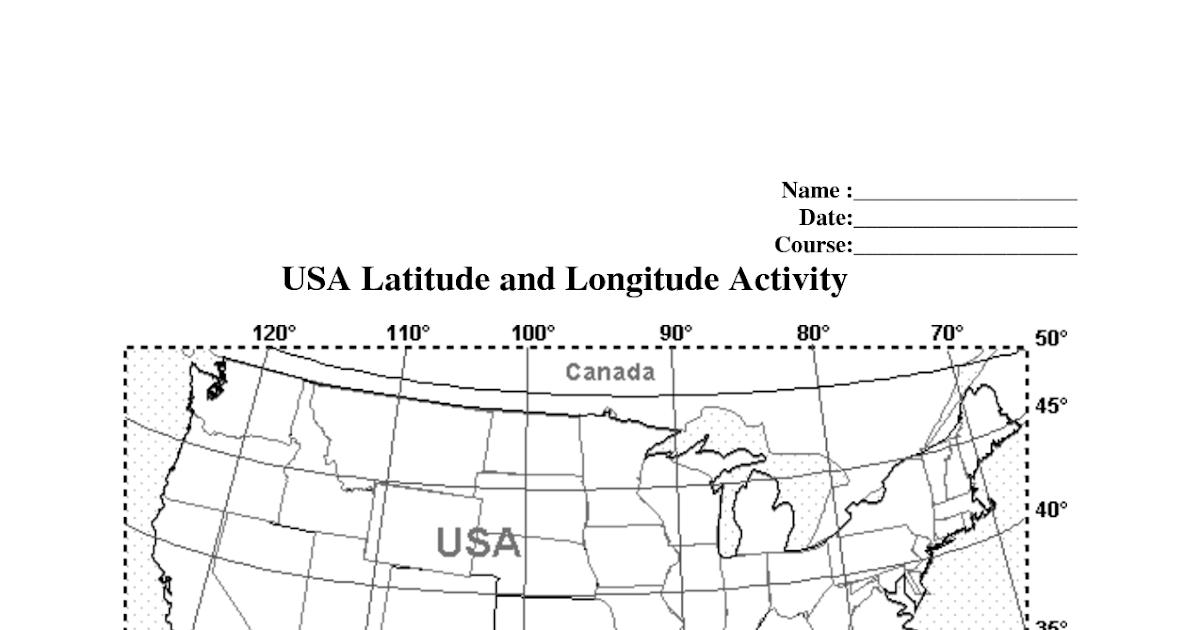 World Latitude And Longitude Worksheet Answer Key - worksheet