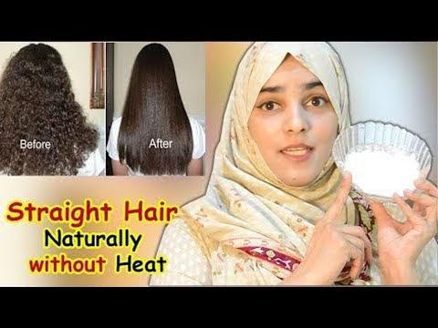 Homemade HAIR STRAIGHTENING CREAM for Dry, Damaged, Frizzy Hair