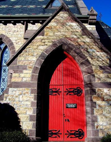 Of bright red doors :)