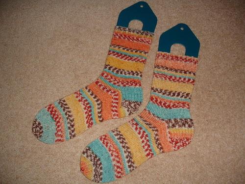 Monika's Circus socks 001