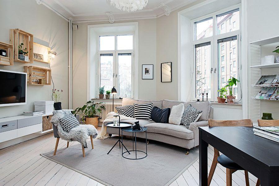 50 Chic Scandinavian Living Rooms Ideas