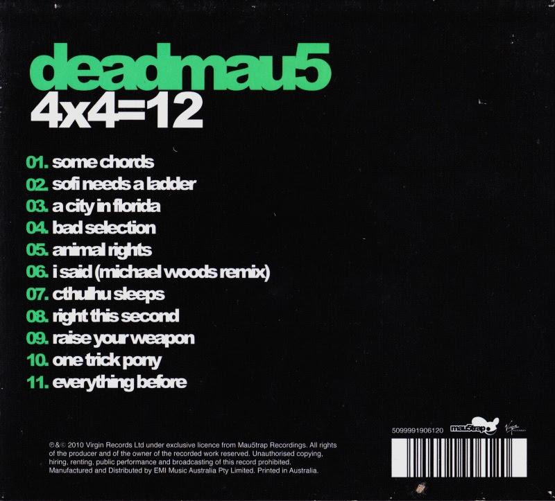 Cd Album Deadmau5 4x412 Virgin Australia