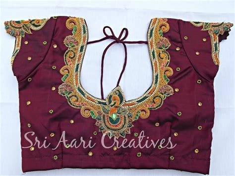 SRI AARI CREATIVES: Wedding Blouse Designs   Bridal Blouses