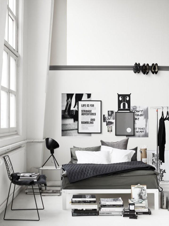Charcoal decores : Industrial bedroom