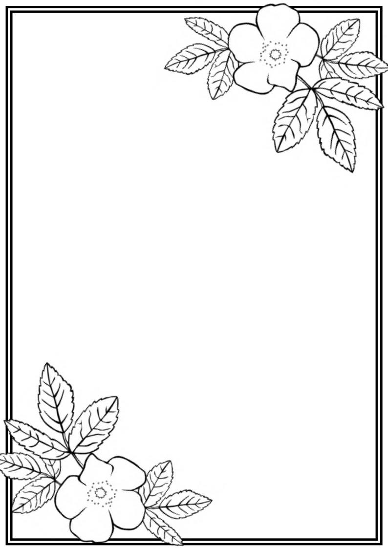 Simple Flower Border Design Drawing The Design Interior
