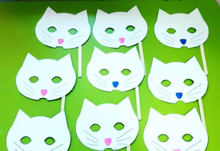 Kartondan Kedi Maskesi Yapımı çay Zamanı