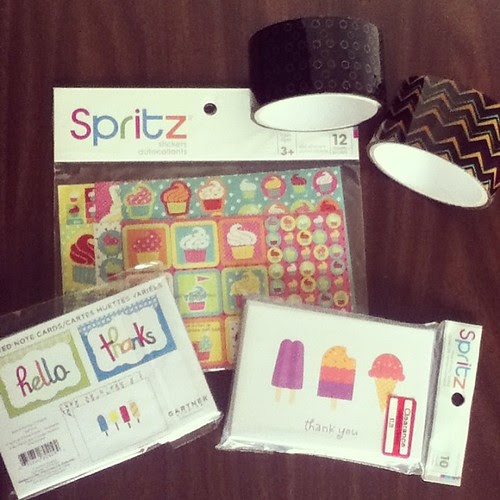 I stocked up on stationery supplies at Target for my pen pals and Etsy orders! #iggppc #target #cupcake #icecream